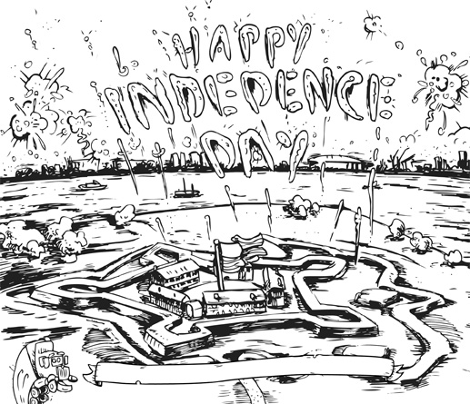 Transport Topics Cartoon - Independence Day