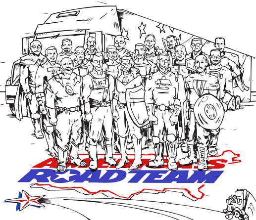 Transport Topics Cartoon - Heroes, inks
