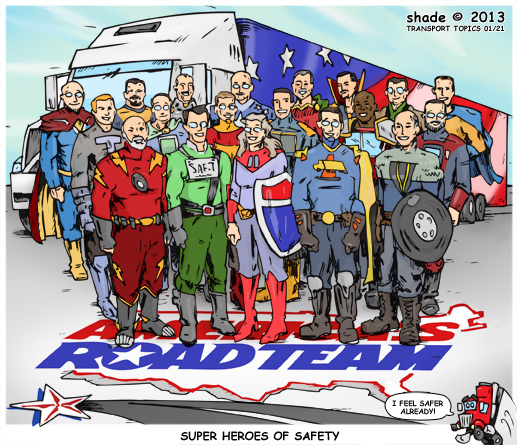 Transport Topics Cartoon - America's Road Team